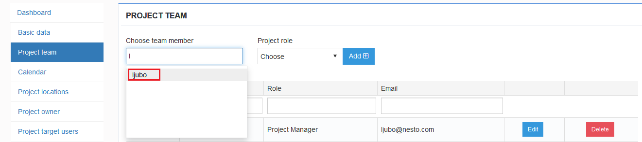 Project Role