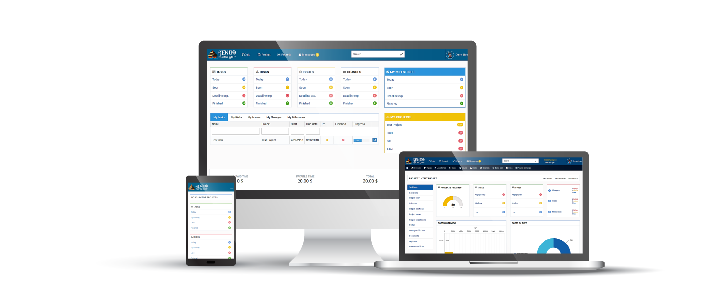 Simple Project Management Software | Kendo Manager