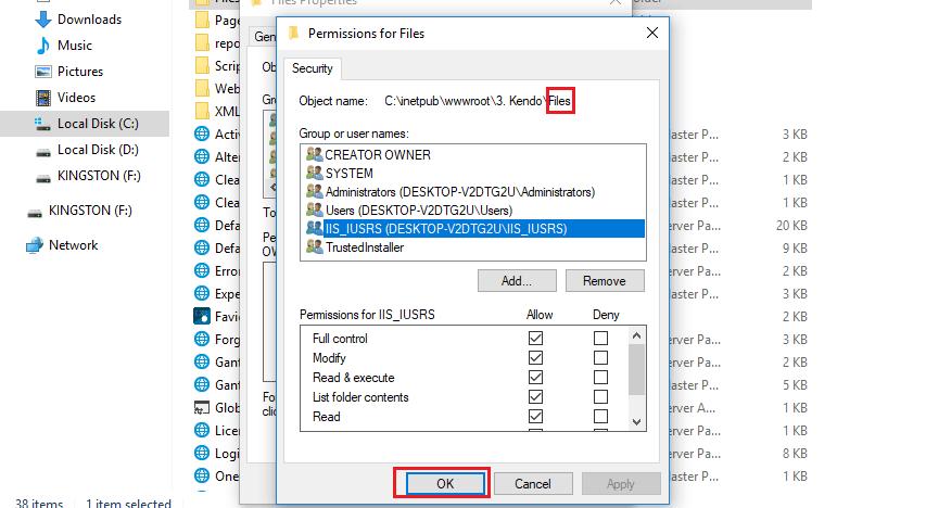Files permission