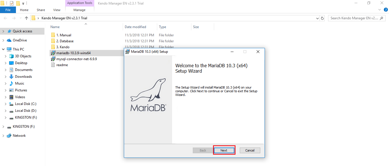 mariadb begin