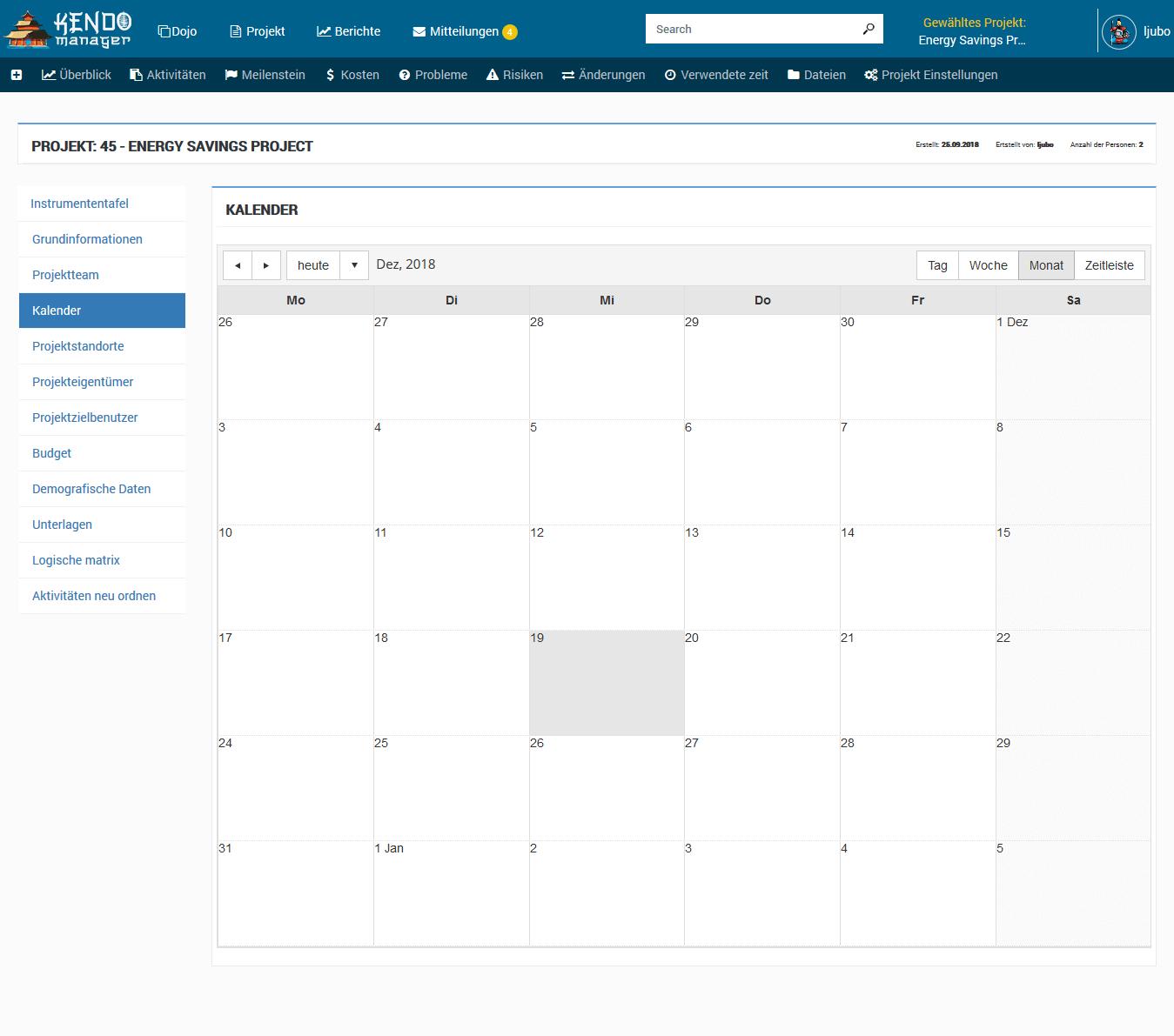 Projekt kalender