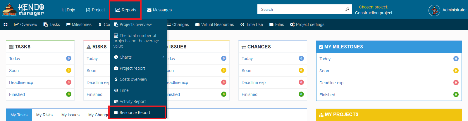 Resources reports