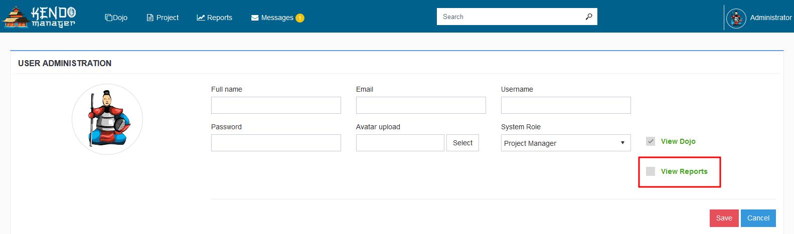 kendo create user