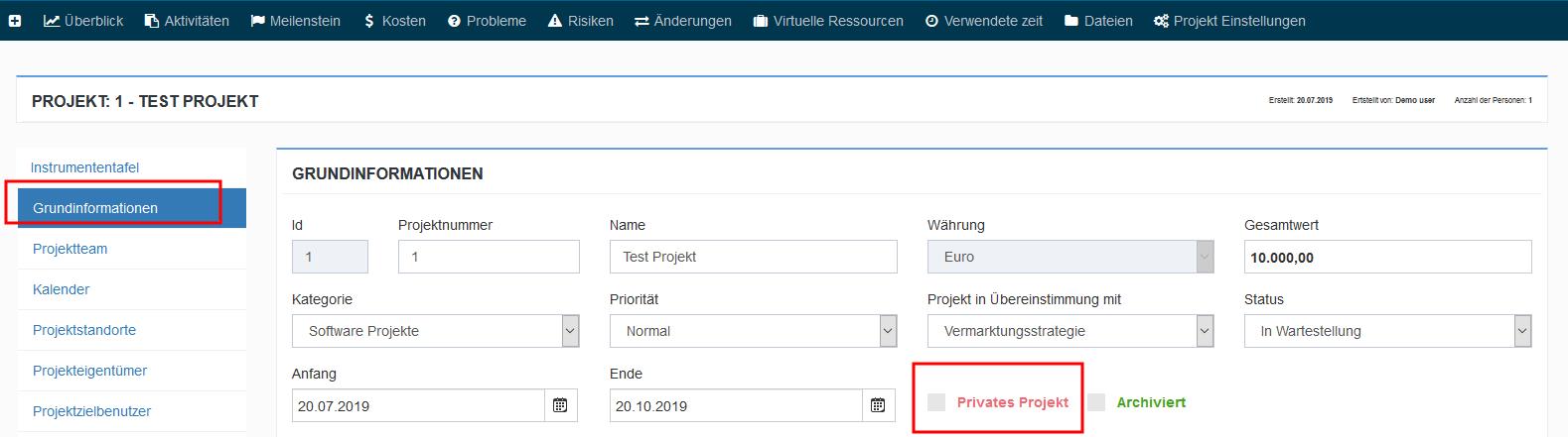 privates projekt
